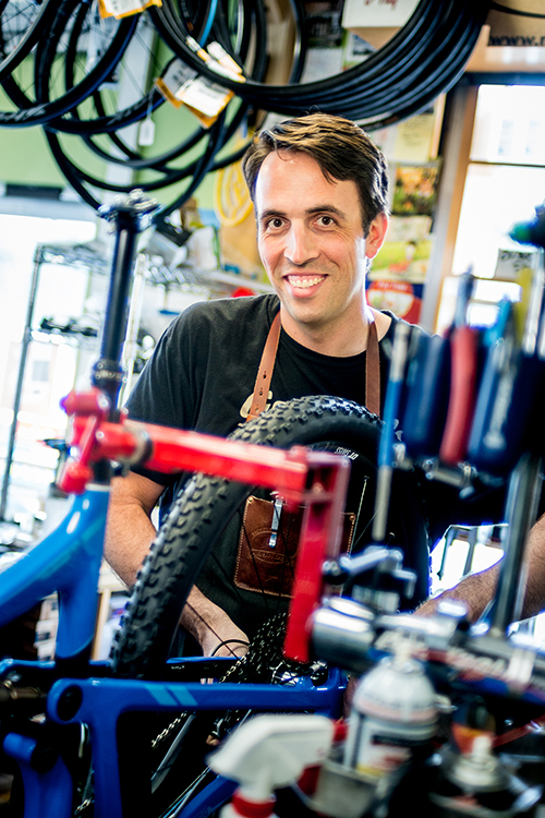 Headshot of a small business owner - bicycle shop